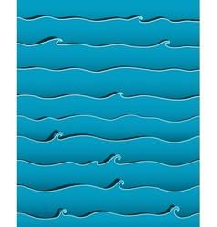 Ocean or Sea Waves Background vector image vector image