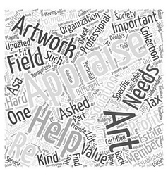 Playing it safe with appraisals word cloud concept vector