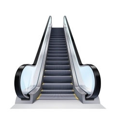 Realistic escalator vector