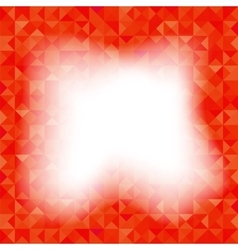 Red background geometric triangles old mosaic vector