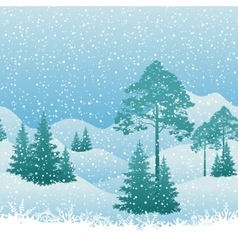 Seamless christmas landscape vector