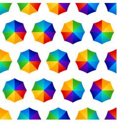 seamless multicolored umbrellas vector image vector image