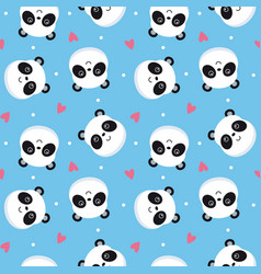 Seamless pattern panda vector