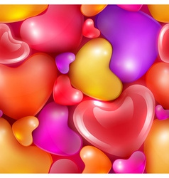 Seamless pattern with different sized hearts vector image vector image