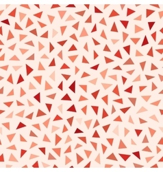 Seamless Red Shades Jumble Triangles vector image