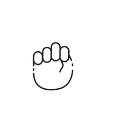 Thin line hands sign icon vector