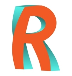 Twisted Letter R Logo Icon Design Template Element vector image