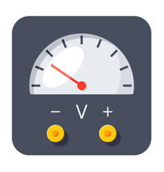 Voltmeter icon vector