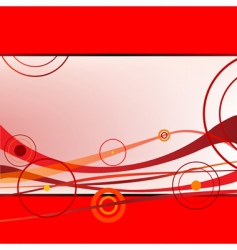 Waves and circles vector