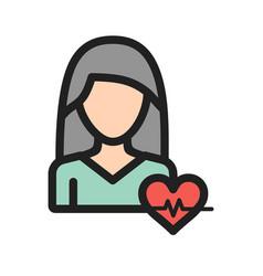 Woman healthy life vector