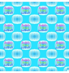 Bubble bump football equipment seamless pattern vector