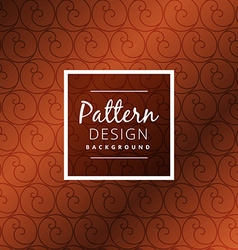 Brown circle pattern design vector