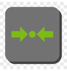 Pressure horizontal rounded square button vector