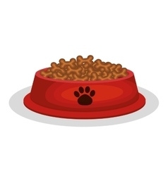 Mascot dish food icon vector