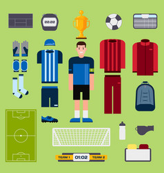 football elements soccer player uniform clothing vector image