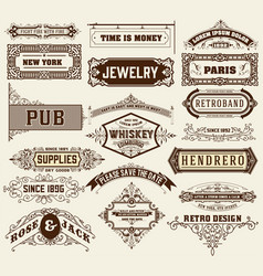 mega set of banners and badges vector image