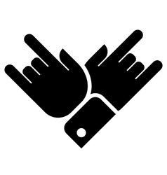 Hands showing rock icon vector