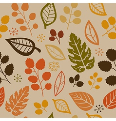seamless pattern with leaf vector image