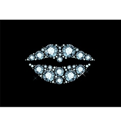 Diamond lips vector
