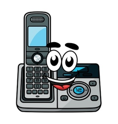 Cartoon cordless phone vector