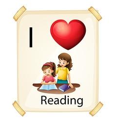 I love reading vector image