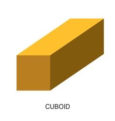 3d shape cuboid vector