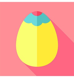 Easter egg with decoration vector