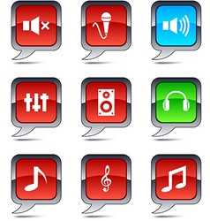 Audio balloon icons vector