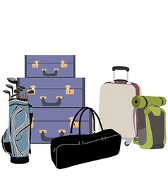 Airport baggage vector