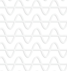 Paper white horizontal waves with level line vector