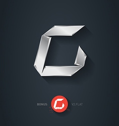 Letter c silver font elegant template for company vector