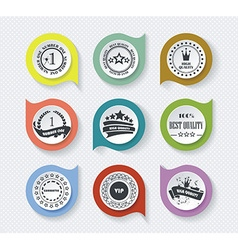 Set of vintage retro premium quality badges and vector image
