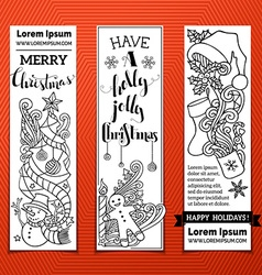 Black and white christmas banners vector