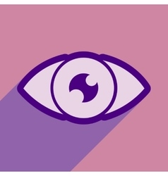 Icon of human eye in flat style vector