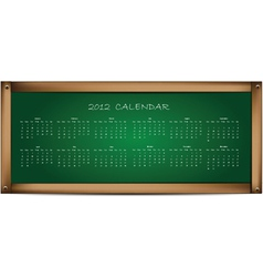 Calendar on school board vector