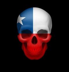 Chilean flag skull vector