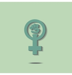 Green feminism sign vector