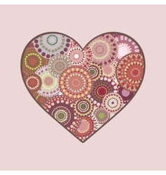 Colorful heart love romantic vector image