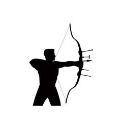 Archer shooting arrow vector