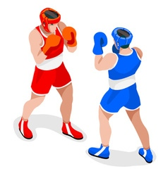 Boxing 2016 sports 3d isometric vector
