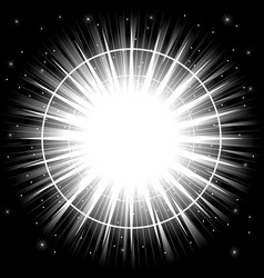 Bright light explosion vector