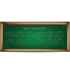 calendar on school board vector image vector image