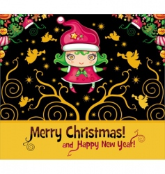 Christmas cards series vector image