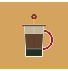 Coffee Press vector image vector image