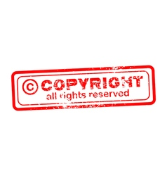 Copyright all rights reserved red stamp vector image vector image