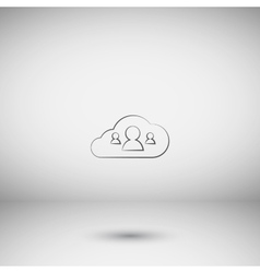 Customers connected to cloud service vector