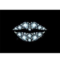 Diamond lips vector