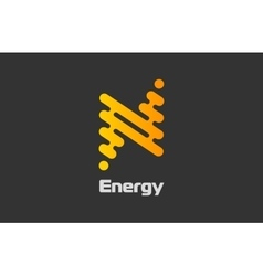 Energy logo design flash logo line logo concept vector