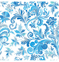 Floral seamless pattern with colorful vector
