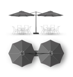 gray outdoor cafe bar pub lounge round umbrella vector image vector image